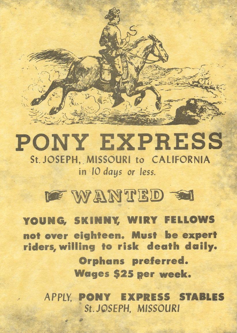 Volantino pony express wanted