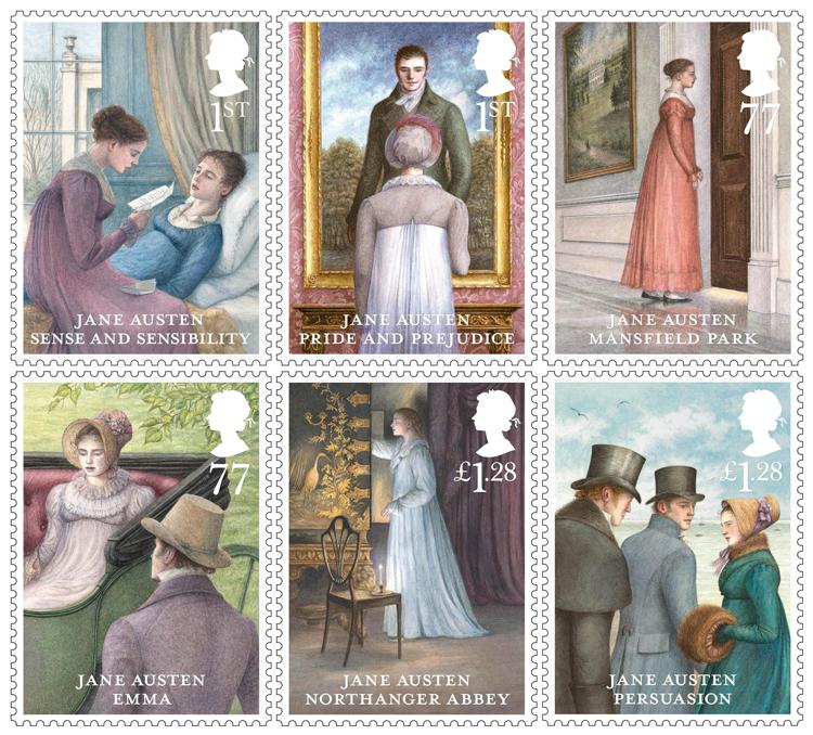 I francobolli inglesi di Jane Austen