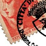 Annullo di Torino su francobollo francese