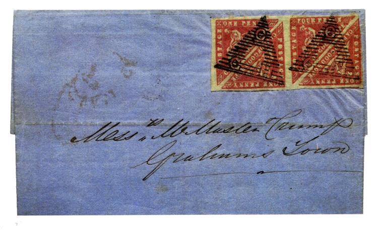 Busta 4 francobolli triangolari del Capo