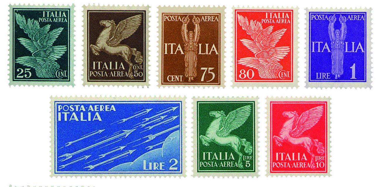 I francobolli della serie aerea del 1930