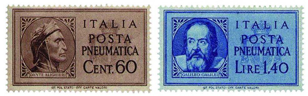 I francobolli di posta pneumatica del 1945