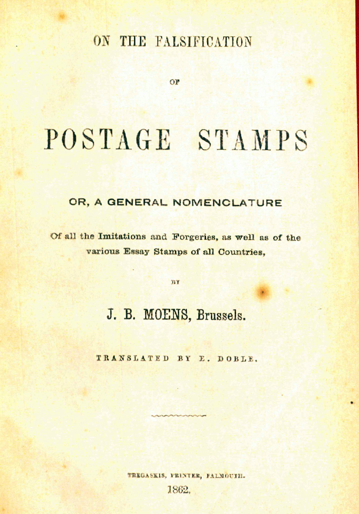 On the falsification of Postage Stamps