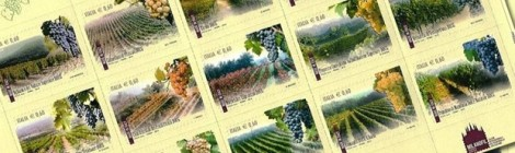 Nunzia De Girolamo e i francobolli dei vini italiani