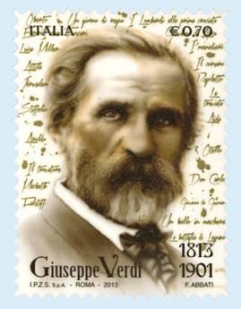 Bicentenario Verdi: arrivano francobolli Italia e S. Marino