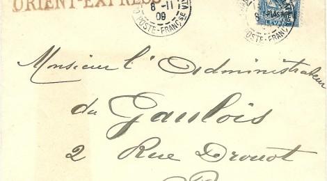 Orient Express lettera Costantinopoli Parigi