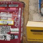 Francobolli svizzeri su cartoline italiane