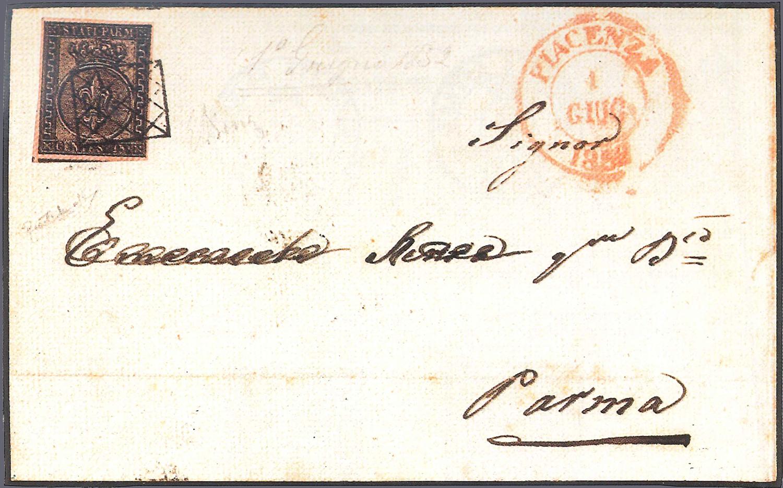 busta francobolli Parma