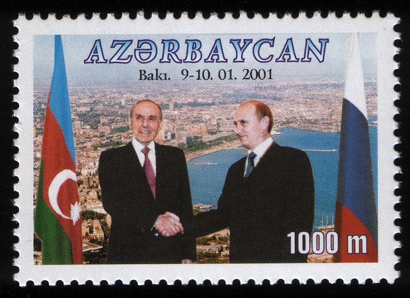 francobollo putin azerbaigian