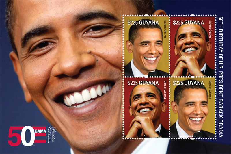 foglietto francobolli obama