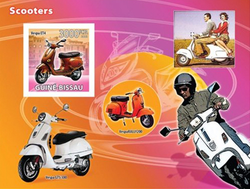 Guinea-Scooter-Vespa-Postage-Stamps - Copia