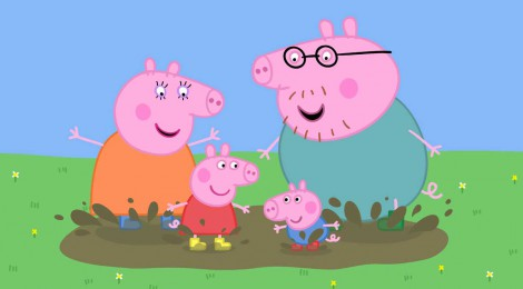 Peppa Pig, da cartoon a carta postale