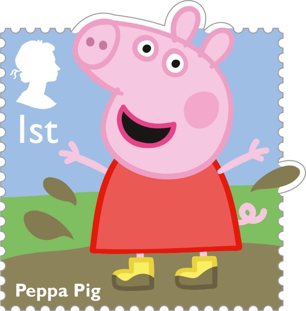 Francobollo Peppa Pig
