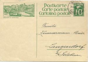 2. intero postale con corriera