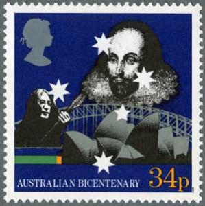 Francobollo per il bicentenario del primo insediamento in Australia (1988)