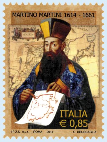 Francobollo Martino Martini italia