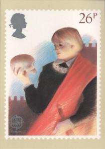 Emissione Teatro britannico, scena di Amleto con il teschio (1982)