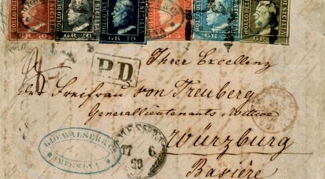 busta affrancata francobolli Sicilia