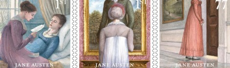 I romanzi di Jane Austen su francobolli inglesi