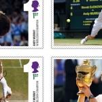 I francobolli per la vittoria di Andy Murray a Wimbledon