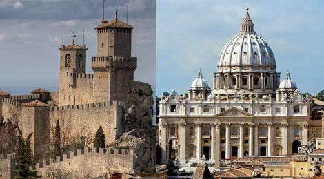 I francobolli 2018 di San Marino e Vaticano